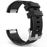 Horloge Band Voor de Fitbit Charge 2 - Siliconen Sport Zwart Watchband - Armband Small - Geschikt voor de Activity Tracker / Polsband / Strap Band / Sportband - Black - Maat Small