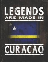 Legends Are Made In Curacao: Customized Gift for Curaaoan Coworker Undated Planner Daily Weekly Monthly Calendar Organizer Journal