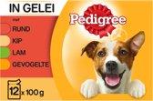 Pedigree Adult Favourites Multipack - Rundvlees en Gevogelte in gelei - 12 x 100 gr