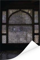 Interieur van het eeuwenoude Fatehpur Sikri in India Poster 120x180 cm - Foto print op Poster (wanddecoratie woonkamer / slaapkamer) XXL / Groot formaat!