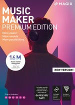 MAGIX Music Maker Premium Edition 2019 -  Nederlands / Frans / Engels  - Windows Download