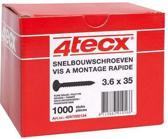 4tecx Gipsplaatschroef fijn 3.6 x 55mm, doos á 1000 stuks.