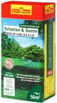WOLF-Garten Zon & Schaduw Premium Gazon LP50 - voor 50m2 - snelle ontwikkeling - bestand tegen schaduw - minder onkruid - minder maaiafval - dicht en belastbaar gazon