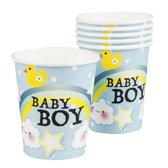 Set 6 Bekertjes Baby boy (25 cl)