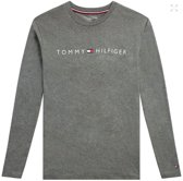 Tommy Hilfiger - Heren Ronde Hals Logo T-Shirt Grijs - M
