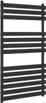 Design radiator handdoekradiator verticaal staal mat zwart 120x50cm 656 watt - Eastbrook Tunstall