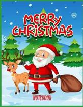 merry christmas notebook for kids 8-12: merry christmas notebook For Kids In school Notebook Journal --100 Lined Pages Gift For christmas- 8.5x11 in.