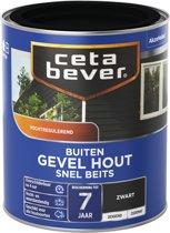 Cetabever Snel Beits Gevel - Dekkend - Zwart - 750 ml