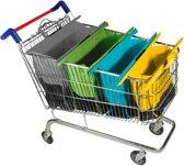 Trolley bags Boodschappentas 'Pastel'' 4 delig - Meer dan 50 kg