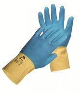 Huishoudhandschoen ook geschikt voor tegelzettershandschoen, chemisch bestending, tegelzetter handschoen, handschoen latex en neoprene