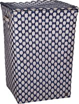 Handed By Lyon - Opbergmand - Beige met donker blauw patroon