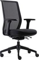 BenS 837-Synchro-4 - Ergonomische Bureaustoel met alle instel opties - Voldoet aan EN1335 en de Arbo-normen  Zwart/zwart