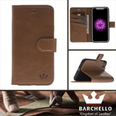 Barchello Lederen Apple iPhone X / Xs Hoesje - Book Case - Barchello Lederen Apple iPhone X / Xs Hoesje - Book Case - Cognac Bruin