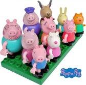 Peppa Pig speelfiguren set 10 stuks