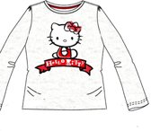 Hello Kitty shirt maat 122/128 grijs