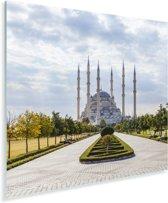De Sabanci Moskee op een lichte ochtend in Turkije Plexiglas 90x90 cm - Foto print op Glas (Plexiglas wanddecoratie)
