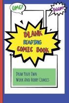 Blank Reading Comic Book