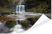 Waterval bij het Nationaal park Brecon Beacons in Wales Poster 120x80 cm - Foto print op Poster (wanddecoratie woonkamer / slaapkamer)