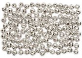 Kralen d: 3 mm gatgrootte 0 7 mm zilver 150stuks