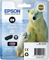 Epson 26 (T2611) - Inktcartridge / Foto Zwart