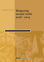 Boek cover Boom Juridische wettenbundels - Wetgeving sociaal recht 2018/2019 van Guus Heerma van Voss (Paperback)