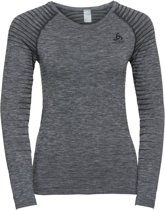 Odlo Suw Top Crew Neck L/S Performance Light Sportshirt Dames - Grey melange