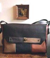 7d501ec1b7d Toetie & Zo Handgemaakte leren Laptop Tas Bruin, werktas, beige, cognac,  terracotta