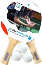 SET OF 2 PLYWOOD TABLE TENNIS BATS 1 STAR - 3 BALLS