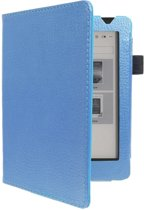 Shop4 - Kobo Aura Edition 2 Hoes - Book Cover Lychee Licht Blauw