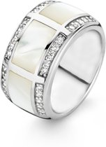 TI SENTO Milano Ring 1346MW - Maat 60 (19 mm) - Gerhodineerd Sterling Zilver