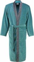 Cawo Heren Badjas 5840 Velours Kimono - Turkis 54