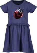 Blue Seven Meisjes Jurk - blauw - Maat 92