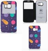 Samsung Galaxy S6 Edge Wallet Case met Pasjes Space