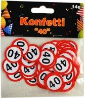 Confetti 40 jaar verkeersbord