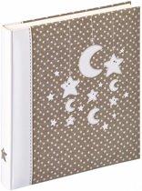 Walther Design UK-208 Stars & Moon - Babyalbum - 28 x 31 cm - Wit/Grijs - 50 pagina's