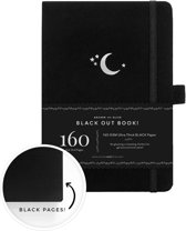 Archer & Olive The Blackout Book A5 Dotted - Silver Crescent