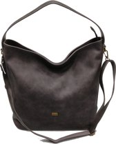 DAVID JONES Omhang Hand & Schoudertas Trendy Fashion Tas Grijs Zwart