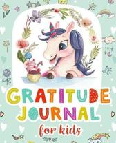 Gratitude Journal for Kids: Girl Unicorn 100 Days Daily Journal Writing Children Happiness Notebook Today I am grateful for...