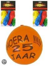 Ballonnen 25 jaar 8 stuks