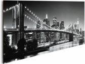 Reinders Schilderij New York - brooklyn bridge black & white - Deco Panel - 90 x 30 cm - no. 19605