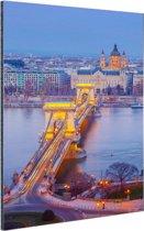 Boedapest Oost-Europa Aluminium 60x90 cm - Foto print op Aluminium (metaal wanddecoratie)