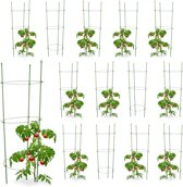 relaxdays 14 x plantensteun tomaten in set -  klimplantensteun - rankhulp – tomatentoren