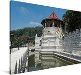 Foto van de Tempel van de Tand in Sri Lanka Canvas 60x40 cm - Foto print op Canvas schilderij (Wanddecoratie woonkamer / slaapkamer)