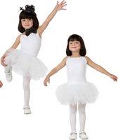 Ballet danseres wit kostuum voor meisjes 128 (7-9 jaar)