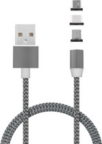 Mobiparts Magnetic 3-Pack to USB Cable 1.5A Dark Grey 1m