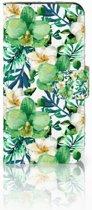 HTC One Mini 2 Uniek Boekhoesje Orchidee Groen