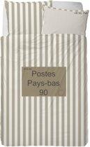 Stapelgoed Dekbedovertrek Post - Eenpersoons - 140x200 cm - Brown