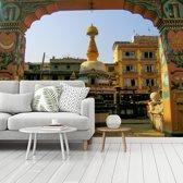Fotobehang vinyl - Kleurrijke foto van het Durbarplein breedte 360 cm x hoogte 270 cm - Foto print op behang (in 7 formaten beschikbaar)