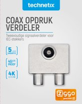 IEC opsteek splitter TV 9.5(F)-2x9.5(M)
