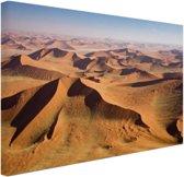 Namibie Woestijn Canvas 80x60 cm - Foto print op Canvas schilderij (Wanddecoratie)